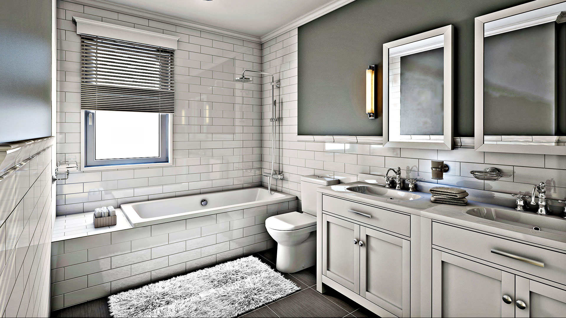 Advance Remodeling Corp Remodeled Bathroom